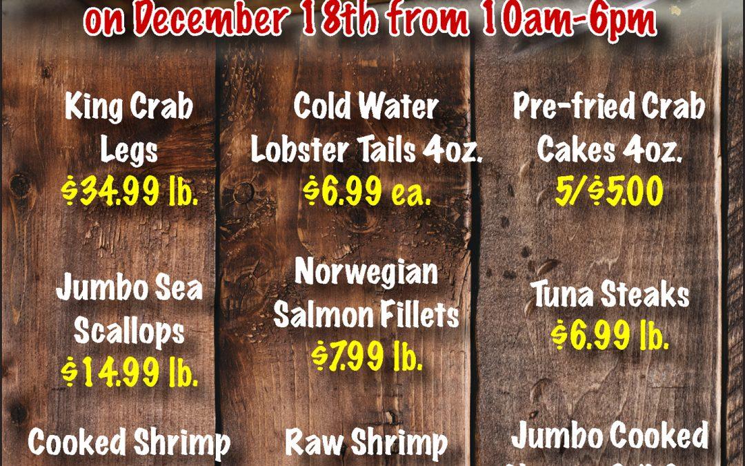 Ric's Food Center: Seafood Sale