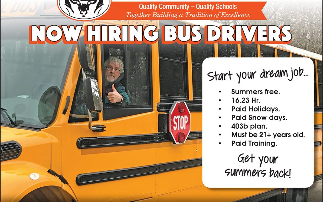 RPS Bus Drivers Help Wanted Advertisement