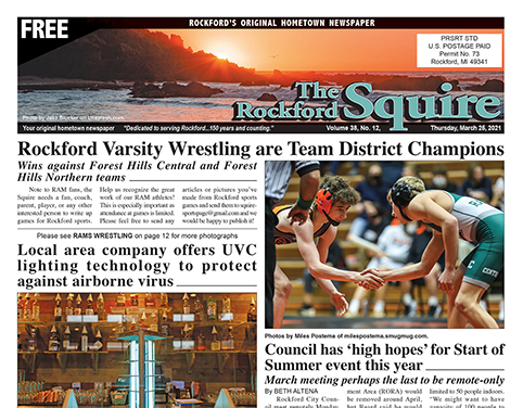 Rockford Squire Newspaper Spread 3/25/21