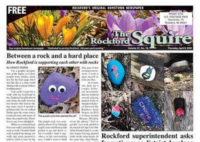 Rockford Squire Newspaper Spread 4/9/20